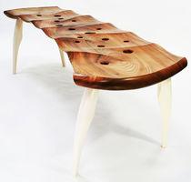 Indoor bench / organic design / wooden