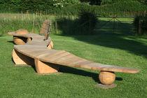 Public bench / original design / wooden