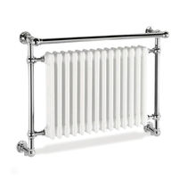 Hot water towel radiator / electric / metal / contemporary