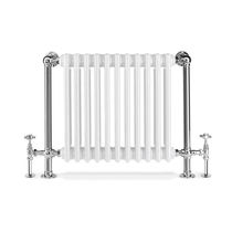 Hot water radiator / electric / metal / contemporary