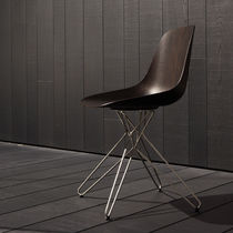 Contemporary chair / wooden