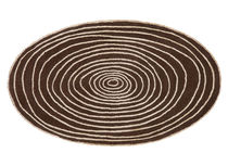Contemporary rug / striped / wool / round