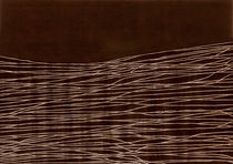 Contemporary rug / silk / wool / striped