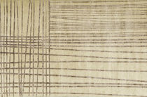 Contemporary rug / hemp / wool / striped