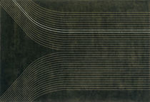 Contemporary rug / striped / wool / rectangular