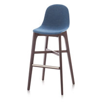 Contemporary bar stool / wooden / polyurethane / commercial