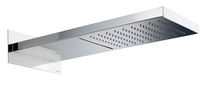 Wall-mounted shower head / rectangular / rain