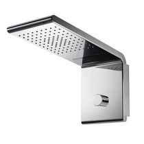 Wall-mounted shower head / rectangular / rain / waterfall