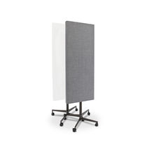 Magnetic board / self-supporting / glass / on casters