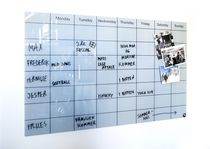 Magnetic board / wall-mounted / glass
