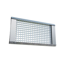 Galvanized steel ventilation grill / rectangular / for air supply and exhaust