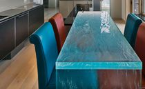 Dining table / contemporary / glass / rectangular