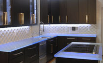 Glass countertop / kitchen / antibacterial / stain-proof