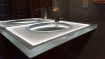 Glass vanity top / commercial / recycled / custom