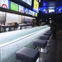 Illuminated counter / bar / glass / upright