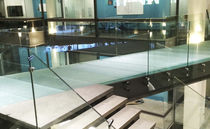 Glass flooring / commercial / for public areas / tile