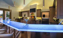 Bar counter / kitchen / glass / upright