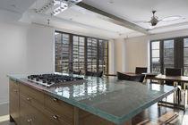 Glass countertop / heat-resistant / stain-proof / antibacterial