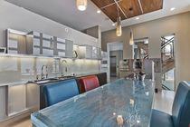 Kitchen counter / glass / upright / L-shaped