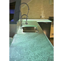 Glass countertop / kitchen / heat-resistant / stain-proof