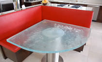 Contemporary table / glass