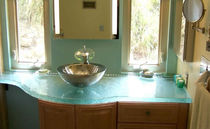 Glass vanity top