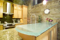 Glass countertop / kitchen