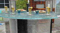 Kitchen counter / glass / semicircular / outdoor