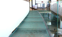 Floor glass panel / high-resistance / patterned
