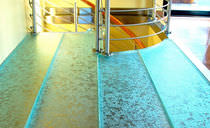 Floor glass panel / high-resistance