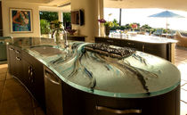 Glass countertop / kitchen / stain-proof / heat-resistant