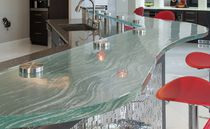Kitchen counter / glass / semicircular