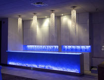 Bar counter / glass / upright / illuminated