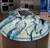 Glass countertop / kitchen / heat-resistant / original design