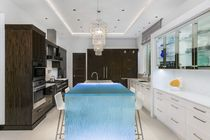 Kitchen counter / glass / upright / illuminated