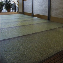 Glass flooring / commercial / tile / textured
