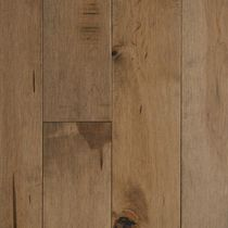 Solid wood flooring / nailed / maple / stained