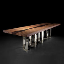 Original design dining table / solid wood / ash / American walnut