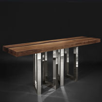 Original design sideboard table / solid wood / ash / wenge