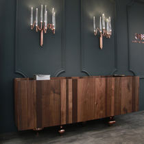 Original design sideboard / brass / marble / solid wood