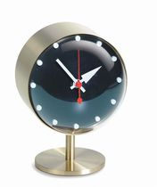 Contemporary clock / analog / desk / brass