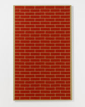 Wall-mounted decorative panel / fabric / printed / imitation brick