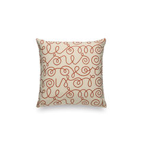 Sofa cushion / square / patterned / fabric