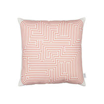 Sofa cushion / square / patterned / cotton