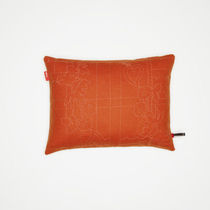 Sofa cushion / rectangular / patterned / fabric