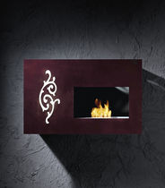 Bioethanol fireplace / contemporary / closed hearth / wall-mounted