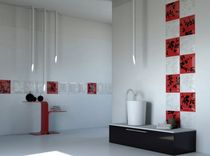 Indoor tile / for bathrooms / wall-mounted / ceramic