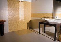 Indoor mosaic / wall-mounted / ceramic / polished