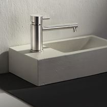 Washbasin mixer tap / stainless steel / bathroom