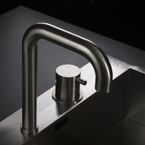 Stainless steel mixer tap / kitchen / 2-hole / swivel spout